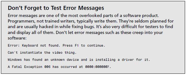 Mensagens de Sistema - Bugs